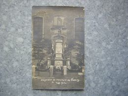CARTE PHOTO - INAUGURATION DU MONUMENT DE THEDING - Altri Comuni