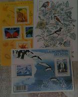 3 Blocs Nature, Protection Des Poles, Oiseaux, Regards Sur La Nature, Neufs - Blocs & Feuillets