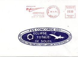 CONCORDE Pli Vol éclipse Solaire - Concorde