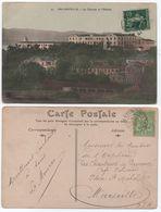 Entrée Maritime Cachet MARSEILLE à LYON Spécial Sur Cartes Algérie Semeuse 1908 Et Tunisie 1906 Plage De Bizerte TB! - Lettres & Documents