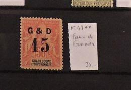06 - 20 - Guadeloupe N° 47 ** - Faux De Fournier - Oblitérés
