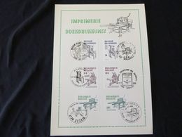 "BELG.1988 2309/2311 Filatelic Card   : ""Boekdrukkunst/ Impimerie "" - FDC"