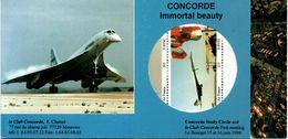 CONCORDE Bloc De Vignettes En Carnet - Aviation Commerciale