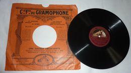 Disque Cie Fse Du GRAMOPHONE La Voix De Son Maître - Mme Y. Brother - Les Brigands - 78 Rpm - Schellackplatten