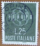 1959 ITALIA Catena EUROPA - 25 Lire Usato - 6. 1946-.. Repubblica
