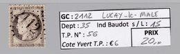 GC 2112 Luçay Le Mâle ( Dept 35 ) S / N° 56 - Marcophilie (Timbres Détachés)