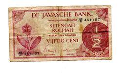 NEDERLANDS INDIE 1/2 GULDEN 1948 - Indochine