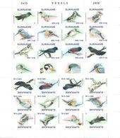 Suriname 2020, Birds, Kingfisher, Parrot, Tropical, 12val X2 In Sheetlet - Papagayos