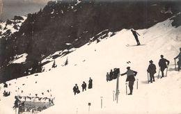 CPA  Suisse, WENGEN, Ski Jump, Carte Photo, J. Giger - BE Berne