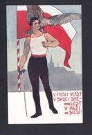 Illustrateur Karel Simunek V. Mysli Vlast V. Srdci Sme Lost V. Pazi Silu ( Escrime Escrimeur Aigle Ref 42077) - Autres Illustrateurs