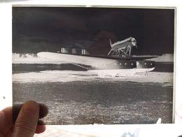 NEGATIVO SU VETRO  FOTOGRAFIA  AEREO SAVOIA MARCHETTI S 55 X - Aviación