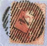 N°16 - Stempel : 4 CELLES 18 Barres - 1863-1864 Médaillons (13/16)