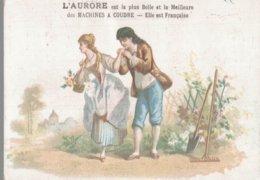 CHROMO  L'AURORE MACHINES A COUDRE PARIS  LE JARDINIRE ET MADAME - Chromos