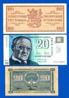 Finlande  3  Billets - Finlande