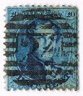 N°15 - Stempel : 24 Bruxelles 8 Barres - 1863-1864 Médaillons (13/16)