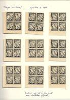 RARE : Tirage Sur Bristol De Taxes Avec Dentelure Figurée - Exposition De 1900 - Série De 12 (voir Scans) - 1859-1955 Mint/hinged