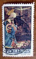 1970 ITALIA Natale Religione Dipinto Madonna Con Bambino - Lippi - 25 Lire Usato - 1961-70: Gebraucht