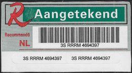 Aangetekend Brief - Sticker - Paesi Bassi