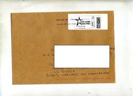 Lettre Flamme Chiffrée Sous Code Symbole Inegalité Sur Timbre En Ligne Lycee Lasalle Reims - Marcophilie (Lettres)