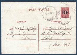 1944 - ENTIER Au TYPE PETAIN Avec SURCHARGE RF OBLITERÉ GRAND CAD De FAY AUX LOGES LOIRET Pour CORBEIL SEINE ET OISE - 1921-1960: Période Moderne