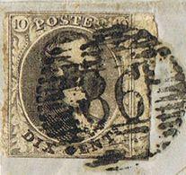 3 10C Bruin - Stempel RHISNE 24 - 1849-1850 Médaillons (3/5)