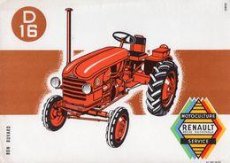 BUVARD  **   RENAULT TRACTEUR - Agriculture