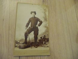Photo Cabinet Format Grand Besson F. Chambéry Chasseur Alpin 97 Au Col - War, Military
