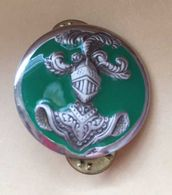 Militaria - Insigne De Col Chasseurs Mécanisés Vert, Coinderoux - Armée De Terre