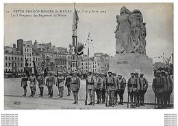 LE HAVRE Fêtes Franco-Belges Des 3 Et 4 Août 1924    Les 3 Drapeaux Des Régiments Du Havre - Le Havre