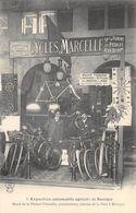 CPA 18 EXPOSITION AUTOMOBILE AGRICOLE DE BOURGES STAND DE MAISON DES CYCLES MARCELLE CONSTRUCTEUR AVENUE DE LA GARE - Bourges