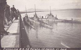 Cpa ( Carte Photo )-salavdor-No En Delc.-sous  Marin-submarinos N.A.en Cutuco , La Union -el Salvador - Salvador