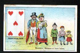 Chomo ,chicoree Leroux, Monsieur, Madame Et Leurs Bebes, Carte à Jouer, 5 De Coeur - Confitería & Galettas