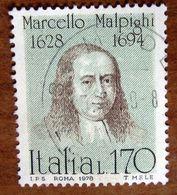 1978 ITALIA Marcello Malpighi - 170 Lire Usato - 6. 1946-.. Repubblica