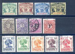 Dahomey - Lot De 13 Timbres Taxe - Cote +40€ - (F1007) - Dahomey (1899-1944)