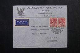 SIAM - Enveloppe Commerciale ( Pharmacie Française ) De Bangkok Pour Saïgon En 1937 - L 62977 - Siam