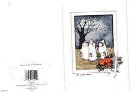 3 Fantômes Enfants Au Clair De Lune By  M.Mechler - Halloween