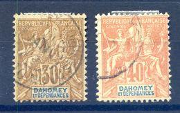 Dahomey N°11 Et 12 Oblitérés - Cote 31€ - (F1010) - Dahomey (1899-1944)