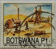 022. BOTSWANA (P1) 1997 USED STAMP FRANCIS TOWN (MONARCH MINES) - Botswana (1966-...)