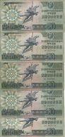 COREE DU NORD 50 WON 1988 VG+ P 30 ( 5 Billets ) - Korea (Nord-)