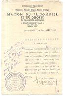 BEAUSOLEIL MONACO . MAISON DU PRISONNIER . 39/45 . ORDRE DE MISSION POUR CHERCHER PRISONNIERS ... - Documentos Históricos