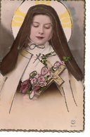 L100G108 - Religieuse Et Croix - Paillettes - PC N°6170 - Christianity