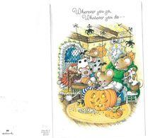 Wherever You Go  Wherever You Do Carte Embossée Se Déplie En 4 - Halloween