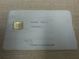 Mondex Test Chip Card, Chip With Oxide, Card With Scratch,edge And Backside Damaged - Télécartes