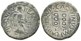 CARTAGONOVA. Semis. Epoca De Augusto. 27 A.C.-14 D.C. Cartagena (Murcia). A/ Vi - Autres Pièces Antiques