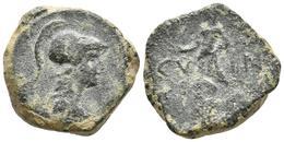 CARTAGONOVA. Semis. 50-30 A.C. Cartagena (Murcia). A/ Cabeza Femenina Con Casco - Autres Pièces Antiques