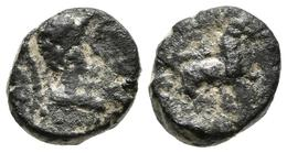 MASSALIA. AE, Pequeño Bronce. 49 A.C. Antipolis (Antibes) A/ Cabeza De Minerva - Autres Pièces Antiques