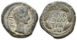 CAESARAUGUSTA. Cuadrante. Epoca De Augusto. 27 A.C.-14 D.C. Zaragoza. A/ Cabeza - Autres Pièces Antiques