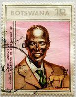 022. BOTSWANA (10C) USED STAMP KHAMA'S ACCESSION TO CHIEFTANSHIP - Botswana (1966-...)