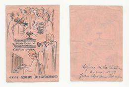 La Châtre, Communion De Jean-Claude Pornin, 1948, Anges Musiciens - Devotion Images