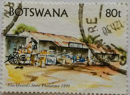 022. BOTSWANA (80t) USED STAMP ART - Botswana (1966-...)
